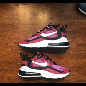 Nike Air Max 270 React Red Vivid Purple sneakers